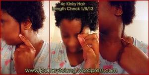 4c kinky hair length check