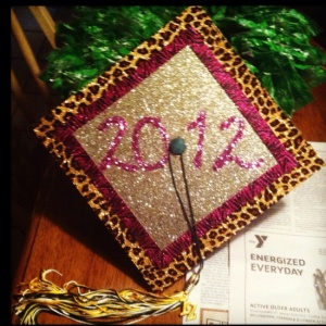 Glitter Graduation Cap from Pinterest