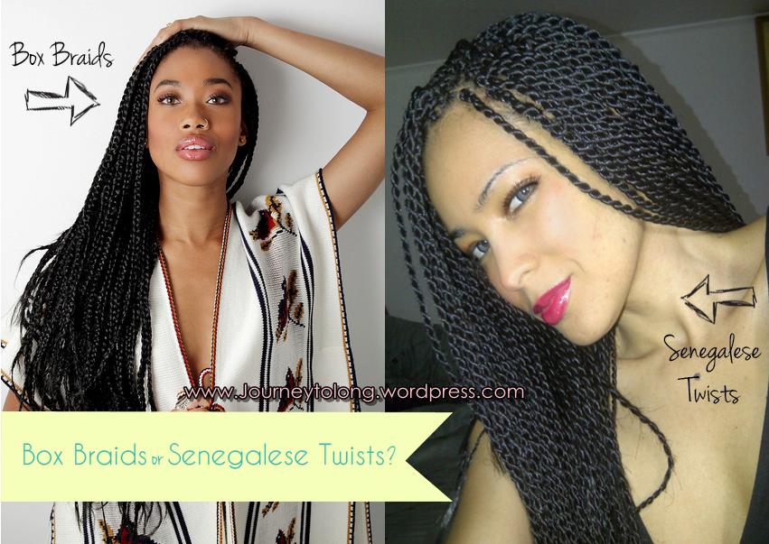 Senegalese Box Braids with Hair