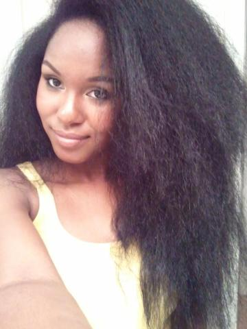 long natural kinky hair